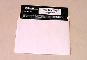 Video-Title-Shop-Graphics-Companion-1-Disk-Apple-II-Plus-IIe-IIc-IIGS