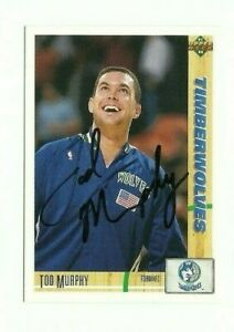 Tod Murphy 1991-92 Upper Deck signed auto autographed card Timberwolves