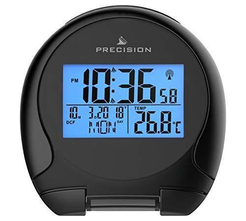 Precision Radio Controlled Blue LED World Band Travel Alarm Clock Snooze AP059