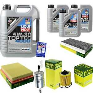 Inspection-Kit-Filter-Liqui-Moly-Can-Oil-8L-5W-30-for-Saab-9-3-Convertible-YS3F