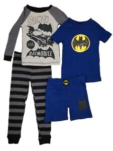 37be9dd75 Komar Kids Boys 4 Piece Pajama Sleepwear Set with Shorts and Pants ...