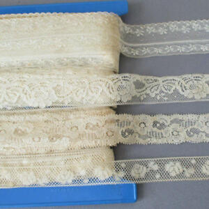 Vintage-French-LACE-Trims-Valenciennes-3-4-034-1-1-2-034-Wide-DOZENS-of-Yards-DOLLS