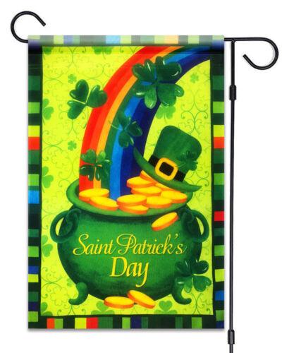 "Patrick/'s Day Rainbow Shamrock Hat Gold Flag12/""X18/""  St.Patrick/'s Decoration St"