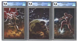 Immortal-Hulk-1-Iron-Man-Tony-Stark-1-Thor-1-CGC-9-8-Connecting-VIRGIN-Set