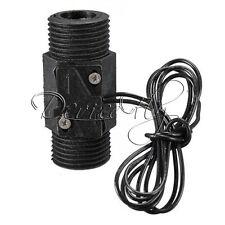 "AC 220V 3A 1/2"" Plastic Magnetic Water Flow Switch Vertical Horizontal w/Sensor"