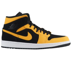 a7c739fbf1c6 Nike Air Jordan Retro 1 Mid Reverse New Love Black Yellow 554724-071 ...
