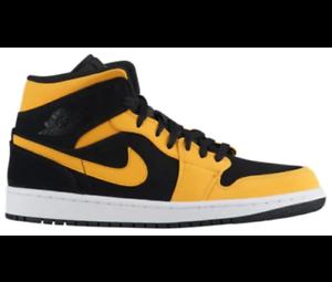 ffa558961066 Nike Air Jordan Retro 1 Mid Reverse New Love Black Yellow 554724-071 ...
