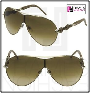 4409b7716bc Image is loading GUCCI-Aviator-CHAIN-GG4203S-Light-Brown-Beige-Silver-