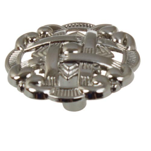 "GlideRite 1-3//8/"" Celtic Medallion Cabinet Hardware Knob Satin Nickel 5745-SN-1"