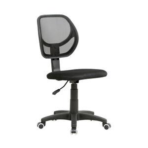 Chaise-de-Bureau-avec-Support-Lombaire-Maille-Fauteuil-Ergonomique-Noir