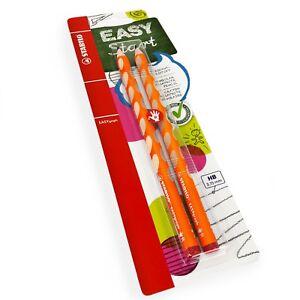 2-x-STABILO-Easygraph-Handwriting-Pencils-HB-Right-Handed-Orange-Barrel