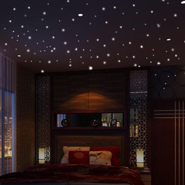 400pcs glow in the dark dot round luminous star wall stickers home