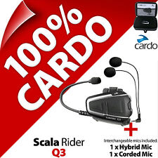 Nuevo Cardo Scala Jinete Q3 (single) Auriculares Bluetooth Casco Moto Intercomunicador