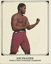 Original Hand Signed Autograph Photo of Boxer Joe Frazier