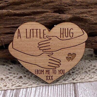 Wood A Little Pocket Hug Token Loved Ones in need of Hug NHS Fridge Magnet Gift
