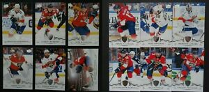 2018-19-Upper-Deck-UD-Florida-Panthers-Series-1-amp-2-Team-Set-of-12-Hockey-Cards