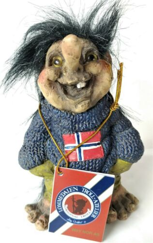 """Lommedalen Troll /""""Gier/"""" Norwegian Sweater 5/"""" Tall  Made in Norway NEW with Tag"""