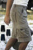Kariban Mens Trekker Bermuda Shorts Cargo Multi Pocket Casual Walking Hiking New