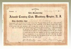 Altwold-Country-Club-Woodbury-Heights-Stock-Certificate