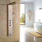 Bathroom Rain Waterfall Shower Panel Massage Set Faucet Tap with Jet Sprays