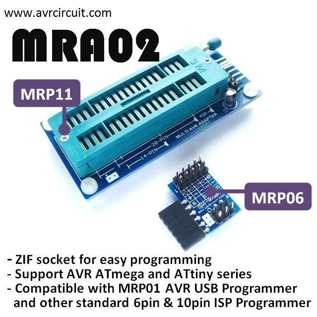 Bid!MRA02-AVR Adapter Set for AVR ISP Programmer!8-40pins AVR AT(mega & tiny)