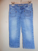 Limited Too Super Low Girls Denim Cropped Jeans Blue 6