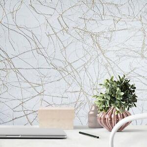 Vinyl-Wallpaper-gray-silver-metallic-gold-Faux-Grasscloth-plaster-textured-rolls