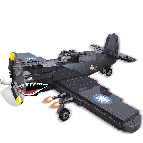 Technic p40 avión militar 42056 42083 bloques bloques de creación p 40 MOC 42066 ww2