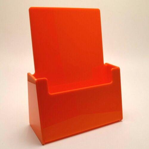 Orange Leaflet Holder Flyer Menu Counter Dispenser Business Card Holder DL A5 A4