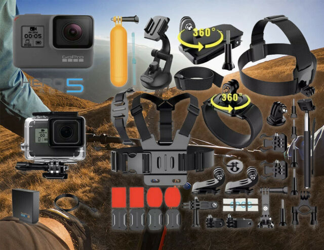 NEW GoPro HERO 5 Black Edition Touch-Screen Camera + 40 PCS Sports Accessories!