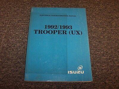 19921993 isuzu trooper suv electrical wiring diagram manual s rs ls 32l  v6  ebay
