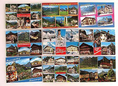 9 X Oberammergau Color Postkarten Lot Bayern Ansichtskarten Frankiert Gelaufen Seien Sie In Geldangelegenheiten Schlau