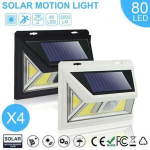80-COB-LED-Solar-PIR-Motion-Sensor-Wall-Light-3-Modes-Outdoor-Garden-Lamp-AE