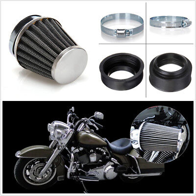 4pcs 50mm Chrome Air Filter Cone for Honda Kawasaki Suzuki Yamaha KTM Motorcycle