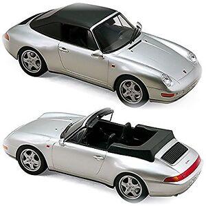 1-18-Nouveaute-Norev-PORSCHE-911-993-Carrera-Cabriolet-1994-ARGENT