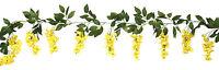 Wisteria Garland Yellow Silk Wedding Flowers Arch Gazebo Decorations Chuppah