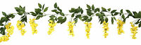 Wisteria Garland Yellow Silk Wedding Flowers Arch Gazebo Decorations