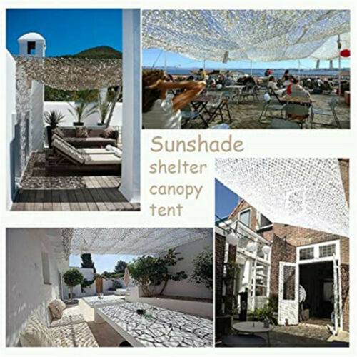 Snow White Camouflage Net Sun-shade Outdoor Military Hunting Camping Mesh Nets