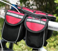 New Cycling Bicycle Bags Multi-function Handlebar Front Frame Tube Pannier Bag