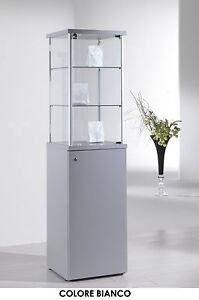 Vetrina Vetrinetta Espositore Vetro Alluminio basamento mobile ...