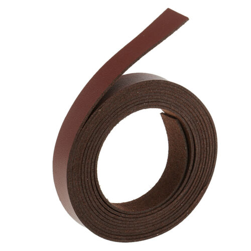 Wine Red 2 Meters x 15mm Leather Strap Strips for Leather Crafts Accessories