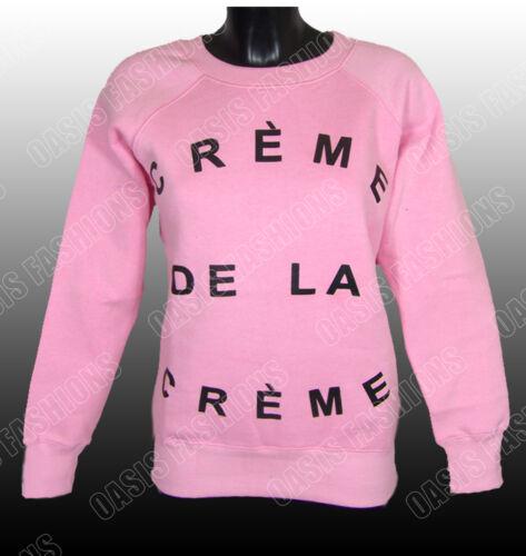 AC8 LADIES CELEB BEYONCE WOMENS CREME DE LA CREME PRINT SWEATSHIRT JUMPER