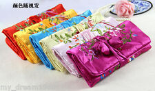Wholesale 10pcs Mix Jacquard Brocade Travel Roll Bag Jewelry Pouch Fashion Gift