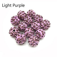 Wholesale 8mm 10mm 12mm micro pave disco crystal shamballa beads bracelet spacer