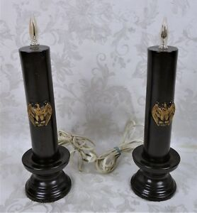 Vintage-Mid-Century-Porcelain-Eagle-Electric-Window-Sill-Candles-14-034