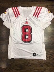 hot sales 30bee a7050 Game Worn Used Louisville Cardinals UL Football Jersey ...