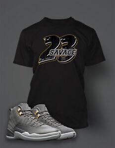 23-Savage-T-Shirt-To-match-Jordan-12-Cool-Grey-Shoe-Men-039-s-Tee-Shirt-Graphic