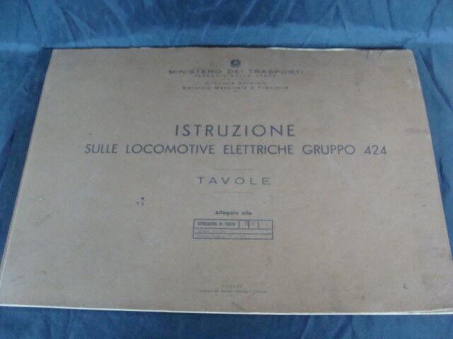 Istruzioni sulle locomotive elettriche gruppo 424 1955 treno FS HO h0 italy
