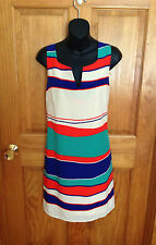 NWT WOMEN'S Anthropologie Pink Owl Apparel Sleeveless Striped Dress Size Large L