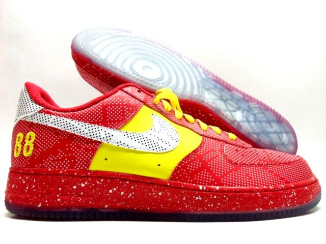 NIKE AIR FORCE One 1 'Barber Shop' 10.5 Red Royal Sail
